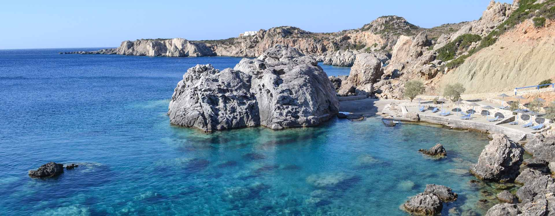 Our spectacular location, Castelia beach in Amoopi Karpathos island