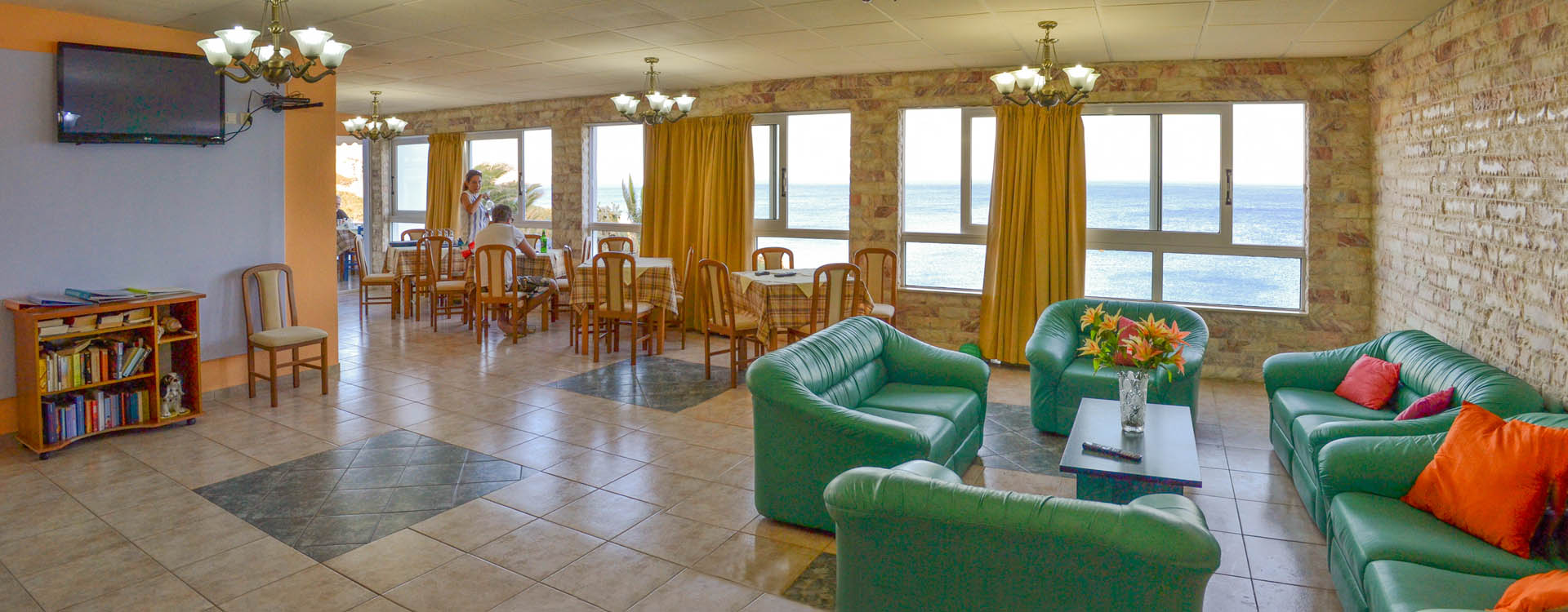 Excellent areas and service from a friendly and helpful staff at Castelia Bay, Amoopi, Karpathos